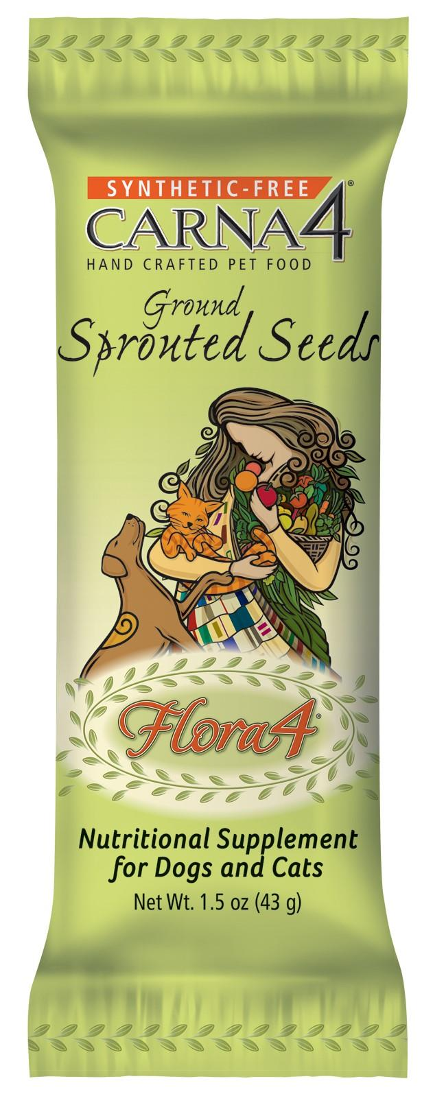Carna4 Flora4 Ground Sprouted Seeds 1.5oz Packet