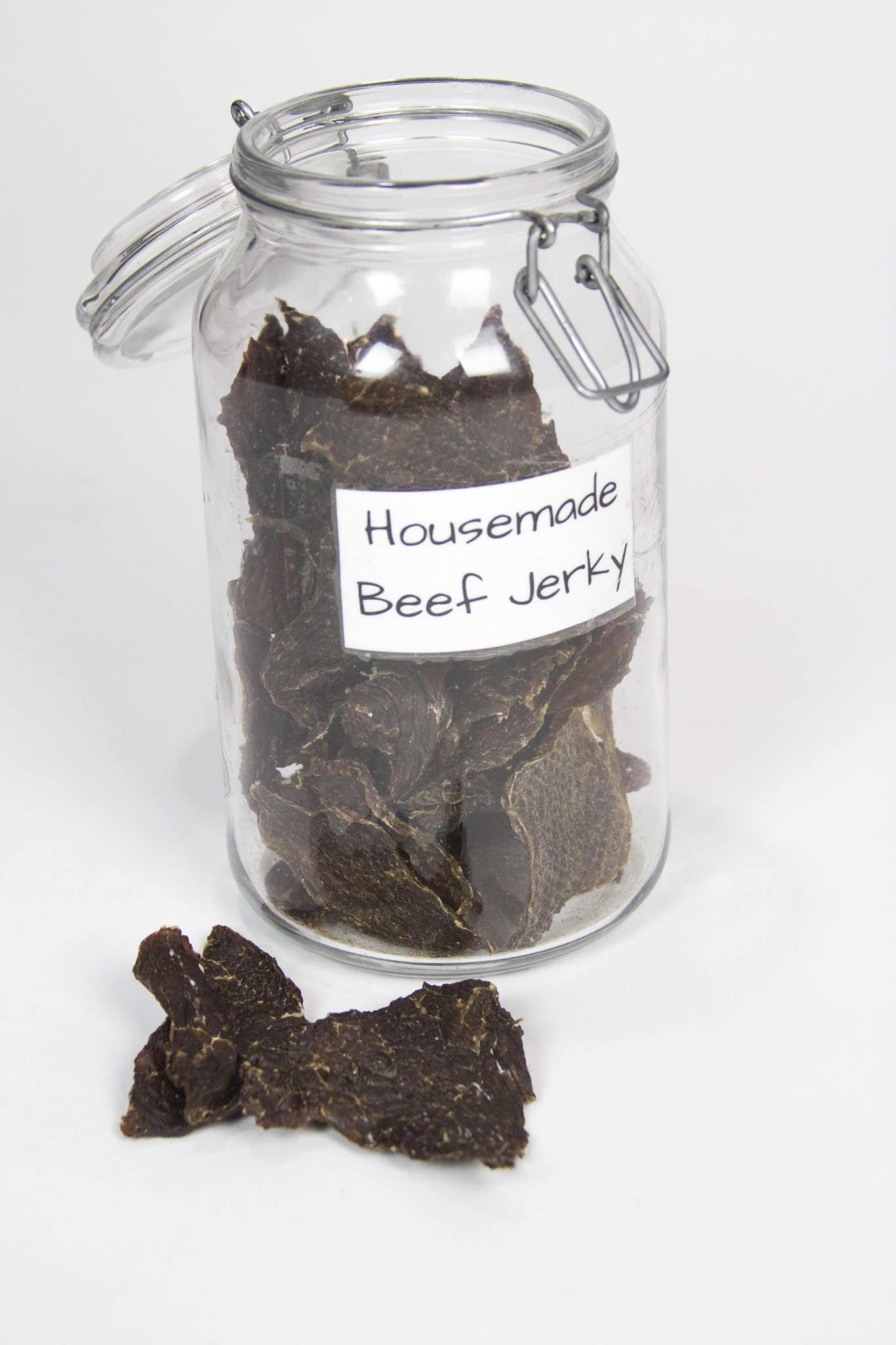 House-Made Beef Jerky Treats - 1/4 lb